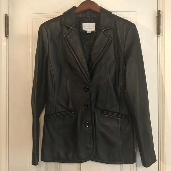Worthington Jackets & Blazers - WORTHINGTON genuine lamb skin leather blazer